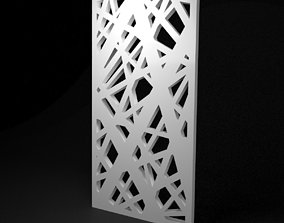 Low-poly CNC panel Lines hard lattice 3D asset pavement
