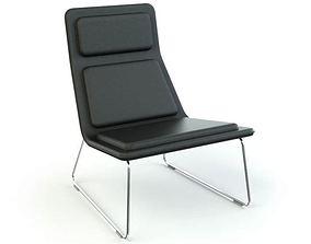 3D Modern Black Armchair