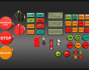 Industrial Control Panel Kitbash 3D asset