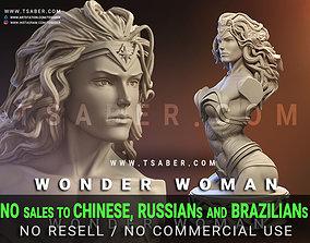 Wonder Woman Bust - 3d Bust Zbrush warrior