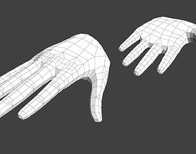 3D asset Anime Girl Hand Base V1 Low-poly