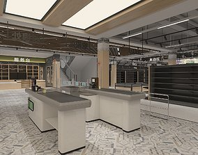 3D Supermarket Hall