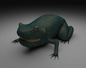 Smooth Blue Frog 3D model