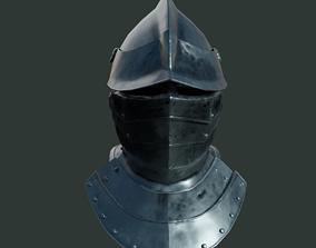 Medieval armor parts 001 - helmet 3D asset