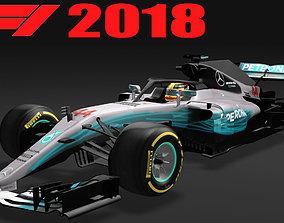 Formula 1 Mercedes W09 F1 2018 3D asset