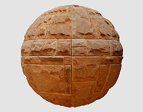 Sandstone Wall Cladding PBR Texture 3D