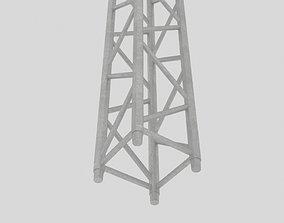Aluminium square truss 3D asset