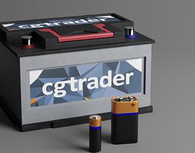 Batteries 3D model electronics