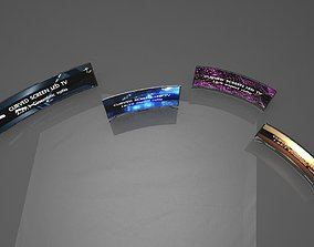 Curved Screen Televisions 3D asset realtime