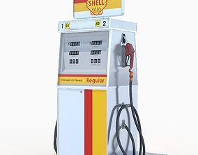 Shell fuel dispenser 3D model