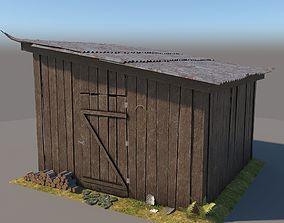 3D wooden Shed 3 model