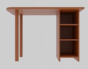 Writing desk 3D model seating