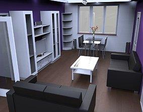 Flat interior 3D model