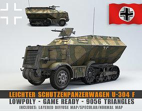 Low Poly U 304 F Leichter SchutzenPanzerWagen 3D asset