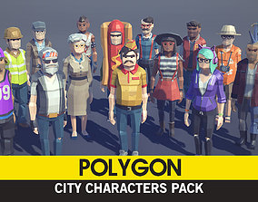 POLYGON - City Characters Pack 3D asset