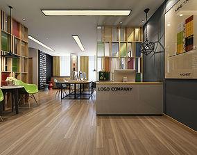 work Modern Office Interior 3D model