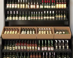 shelf Wine showcase 3D
