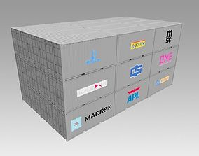 20ft Shipping Container 3D model load