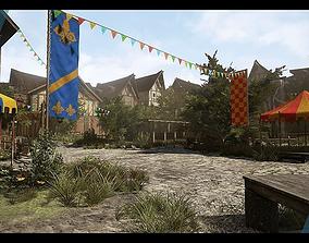 3D model realtime Medieval Village