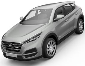 Hyundai Tucson SUV 3D Model animated