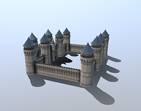 3D model Medieval French Castle