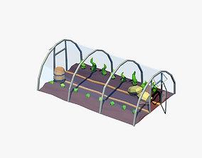 Cartoon greenhouse 3D model