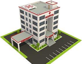 Isometric Cartoon Low Poly Hospital VR / AR ready 2