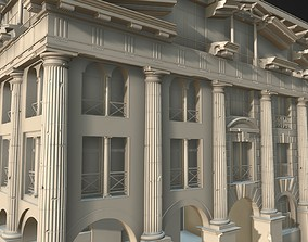 3D club house in classical architecture