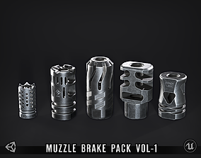 Muzzle Brake Pack - 1 3D asset