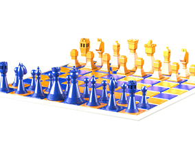 Modern Chess 3D print model