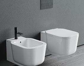 Ceramica Cielo Cubika Wall-Hung WC 3D model