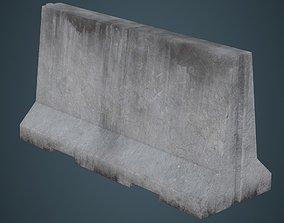 3D asset Concrete Barrier 3B