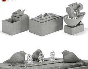 3D model Fountain garden