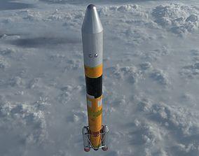 Nippon H-IIa Rocket 3D asset