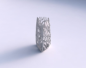 3D print model Vase curved tipping triangle