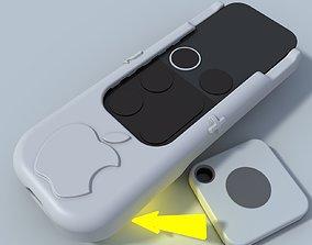 Apple TV Siri Remote Hard Case with Tile Locator 3D model