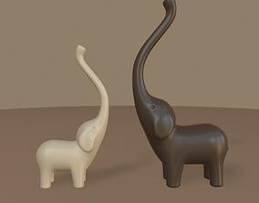 Modern elephants figurine 3D model