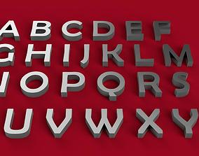 BERLIN SANS font uppercase and lowercase 3D letters STL