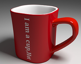 3D model Coffee cup nescafe style