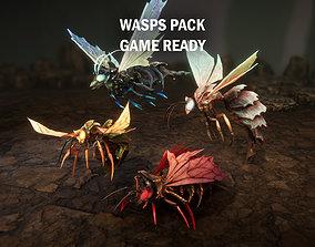 3D asset Wasps pack