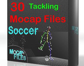 3D model 13-Soccer football motion capture animations -