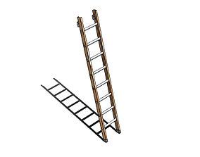 3D model Aluminum Ladder 8 Steps - Escada de Aluminio 8