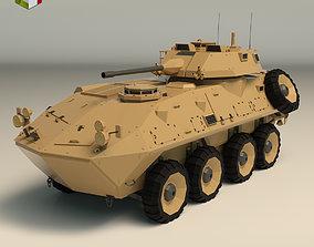 3D model Low Poly Tank 05