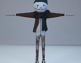 3D asset rigged Snowman