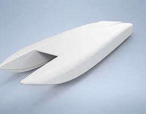 3D print model water RC catamaran