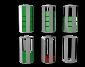 Low poly battery symbols 3D asset
