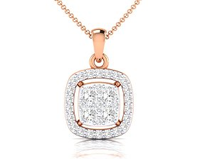 Women pendant 3dm stl render detail diamond white