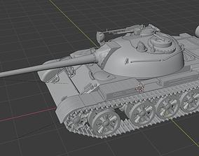 3D print model T-55 tank