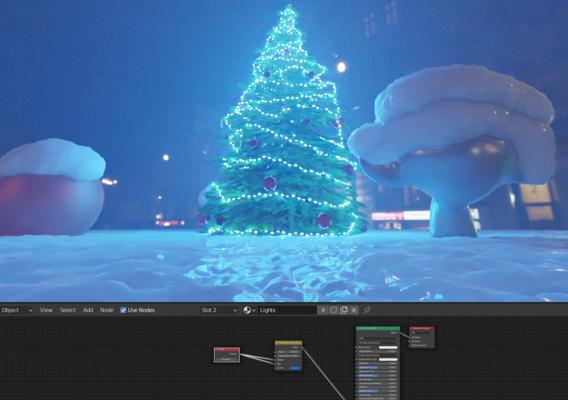 Christmas Tree Indoor Version 2 (Blender-2.91 Cycles Render)