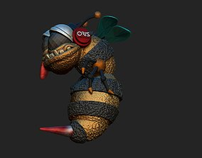 3D printable model insect bee music sting wasp